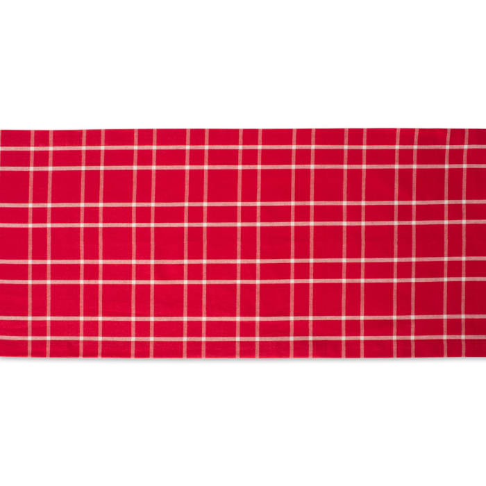 Holly Berry Plaid Table Runner 14x108