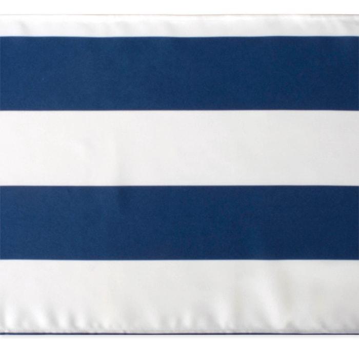 Nautical Blue Cabana Stripe Outdoor Table Runner 14x108