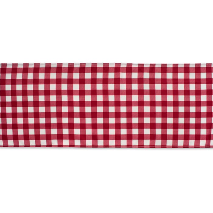Red Check Outdoor Table Runner 14x108