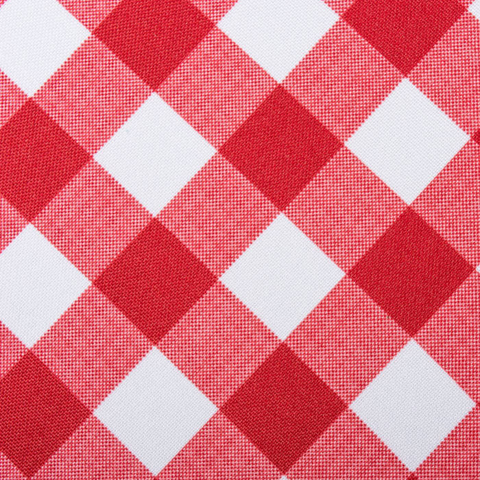 Red Check Outdoor Tablecloth With Zipper 52 Round