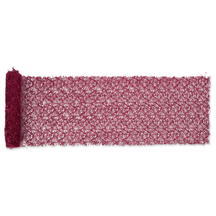 Red Sequin Mesh Table Runner Roll 16inx10ft
