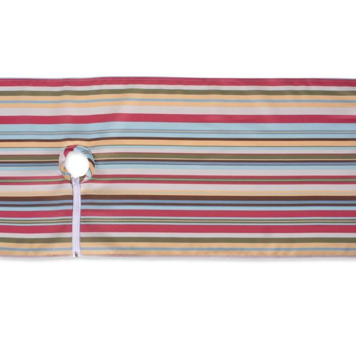 Summer Stripe Outdoor Table Runner With Zipper