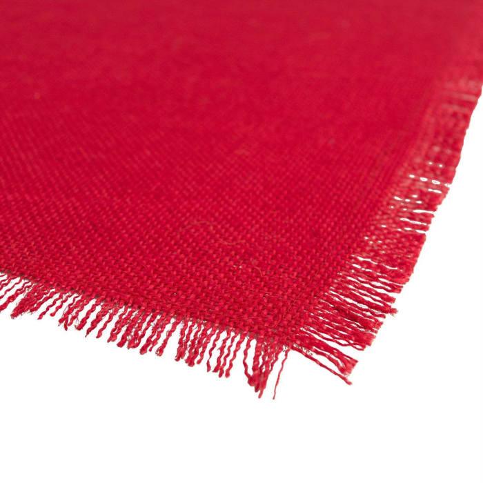 Tango Red Jute Table Runner 15x74