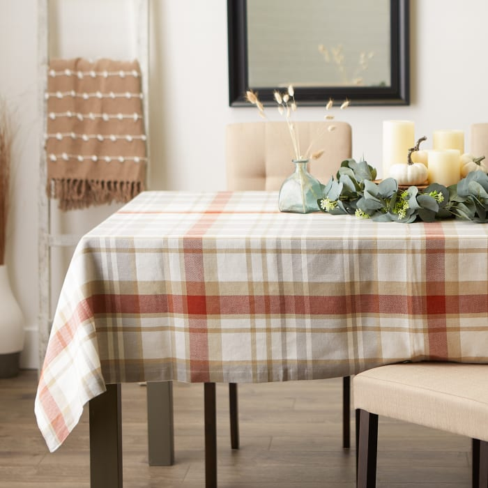 Thanksgiving Cozy Plaid Tablecloth 70