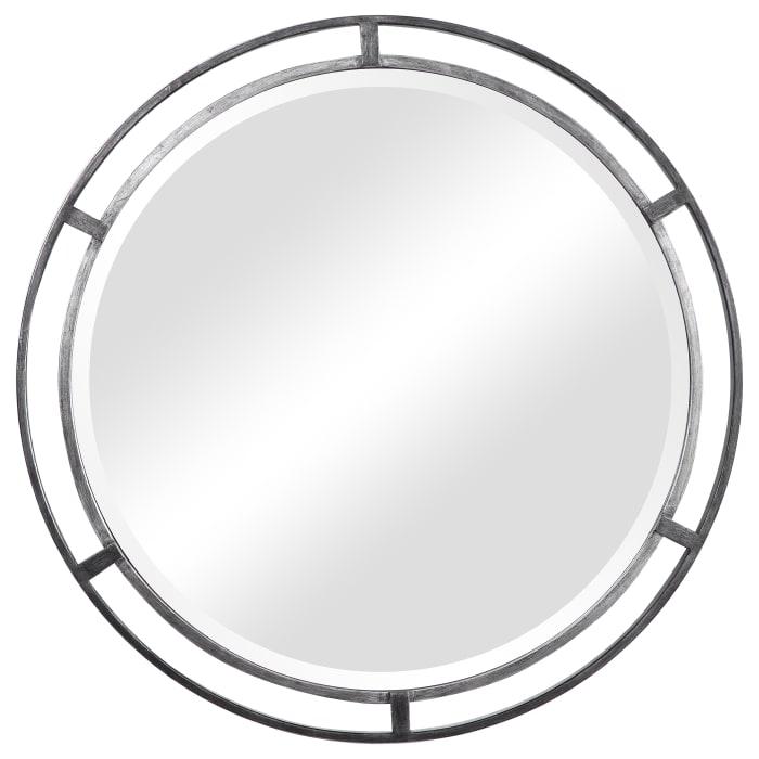 Iron Double Frame Round Wall Mirror