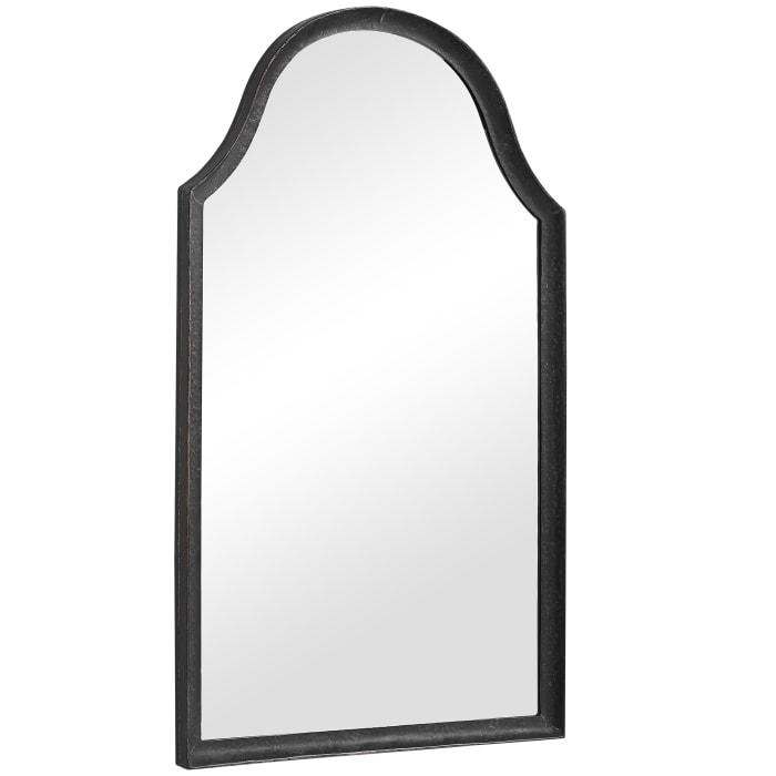 Arched Black Frame Mirror