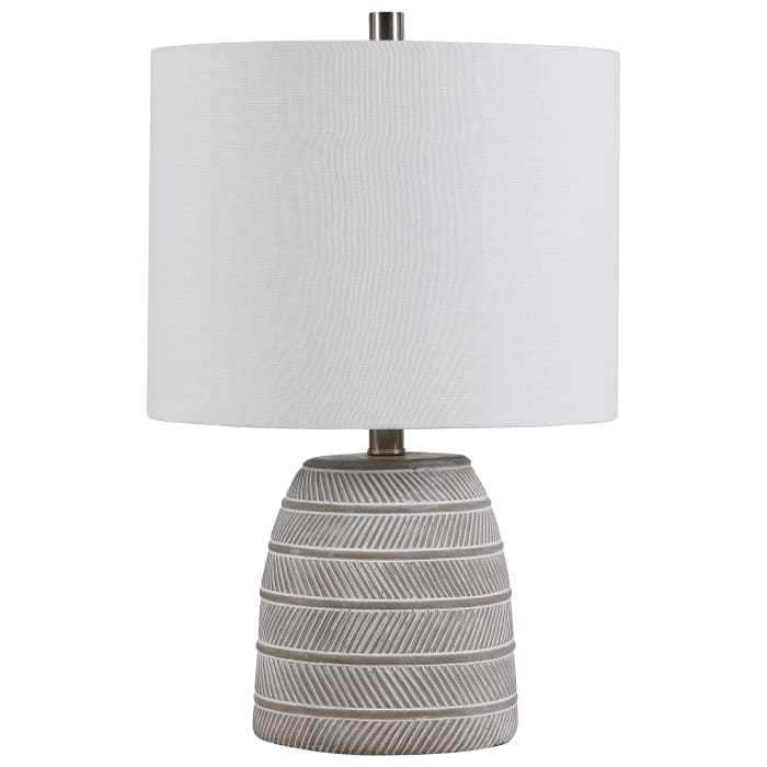 Etched Concrete Table Lamp
