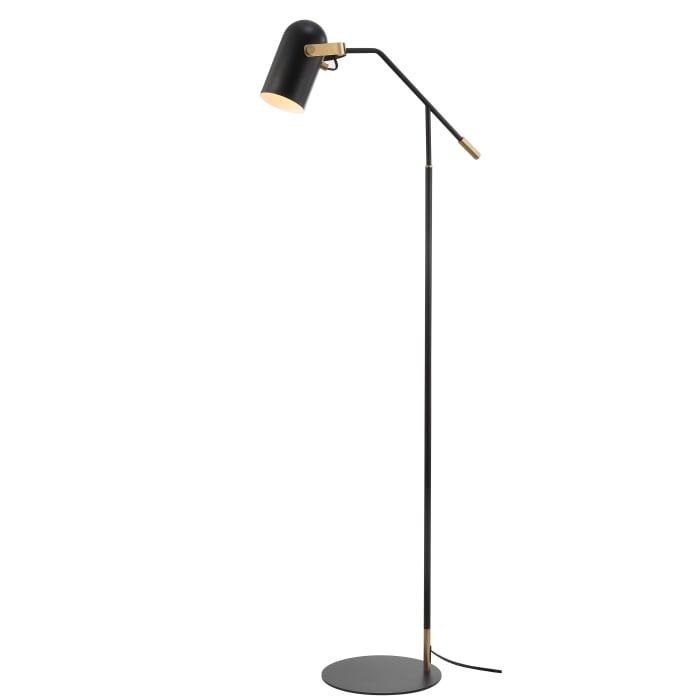 Metal Floor Lamp, Black/Brass Gold
