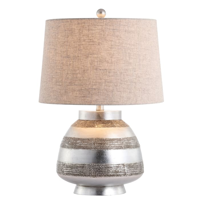 Resin Table Lamp, Antique Silver