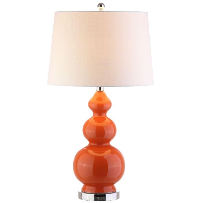 Ceramic Table Lamp, Coral