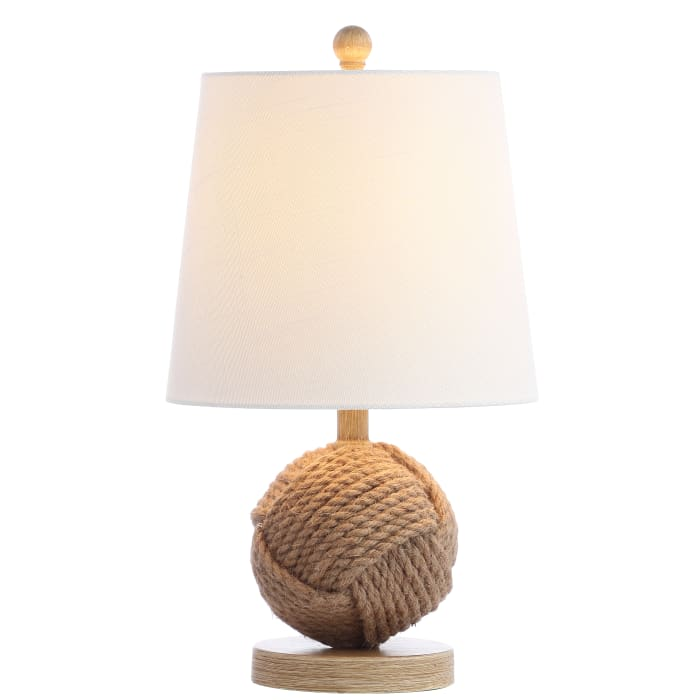 Monkey Fist Rope Ball Table Lamp, Natural