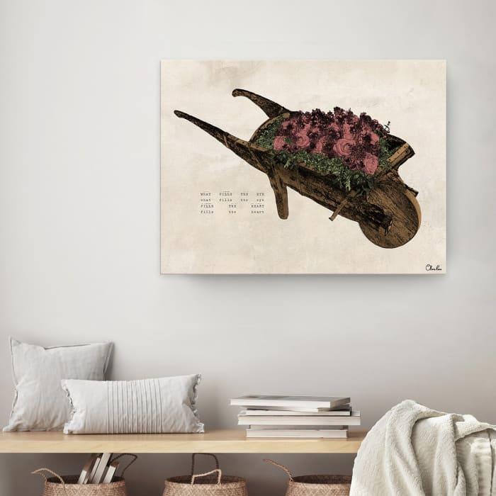 Poetic Flora VIl Beige Canvas Floral Wall Art