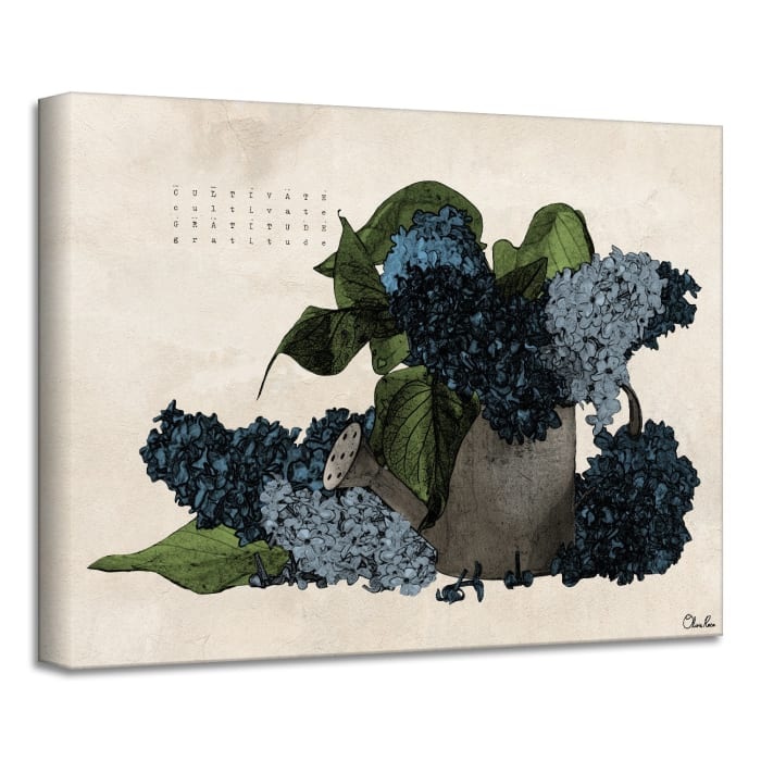 Poetic Flora VIII Blue Canvas Floral Wall Art