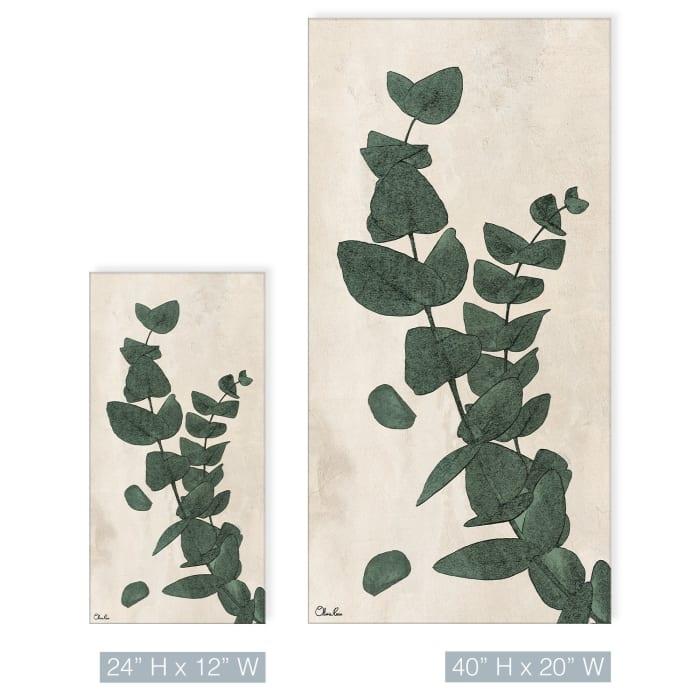 Poetic Flora XXIII Green Canvas Botancial Wall Art