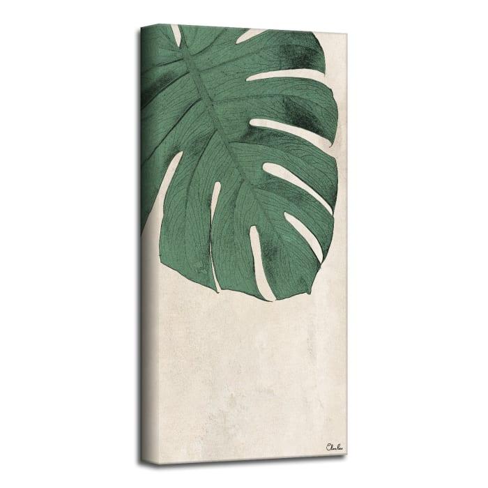 Poetic Flora XXVI Green Canvas Botanical Wall Art