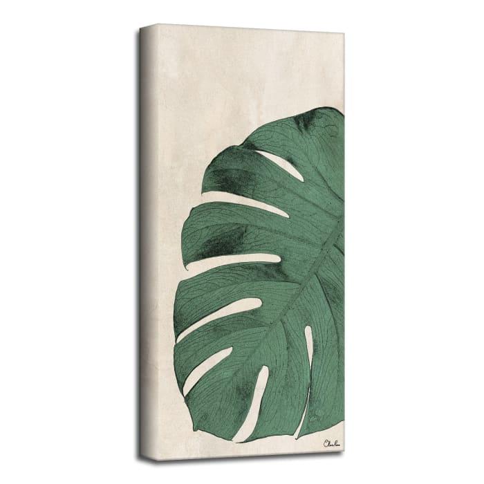 Poetic Flora XXVII Green Canvas Botanical Wall Art