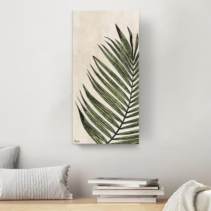 Poetic Flora XXXI Beige Canvas Botanical Wall Art