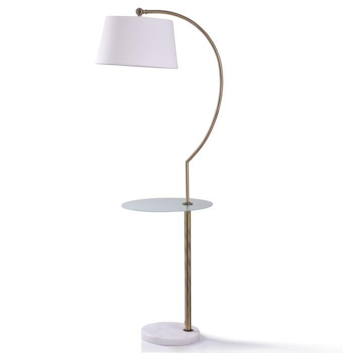 Baldini Brushed Brass MetalFloor Lamp
