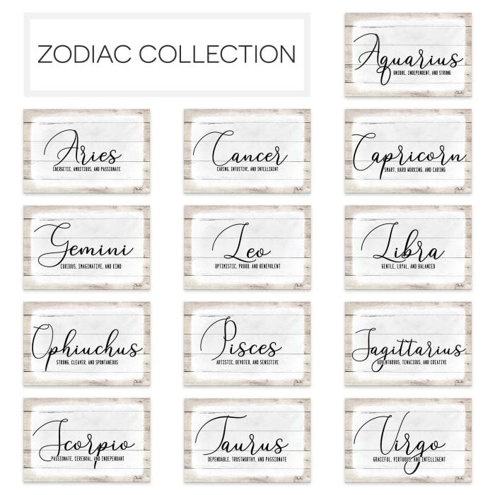 Zodiac Canvas Textual Wall Art - Sagittarius