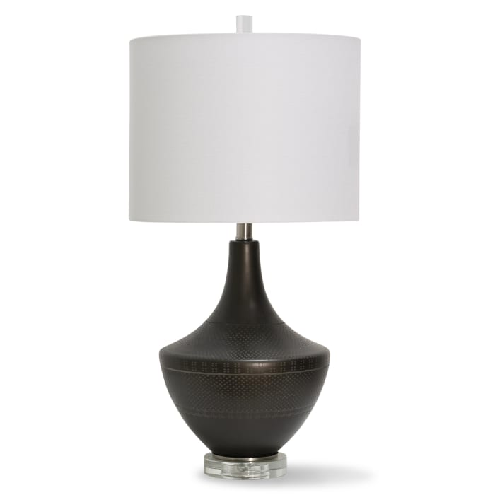 Dark Bronze Metal With Clear Acrylic Table Lamp