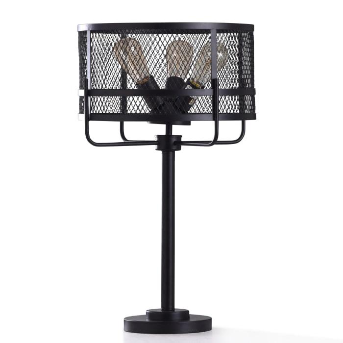 Satin Black Metal Table Lamp
