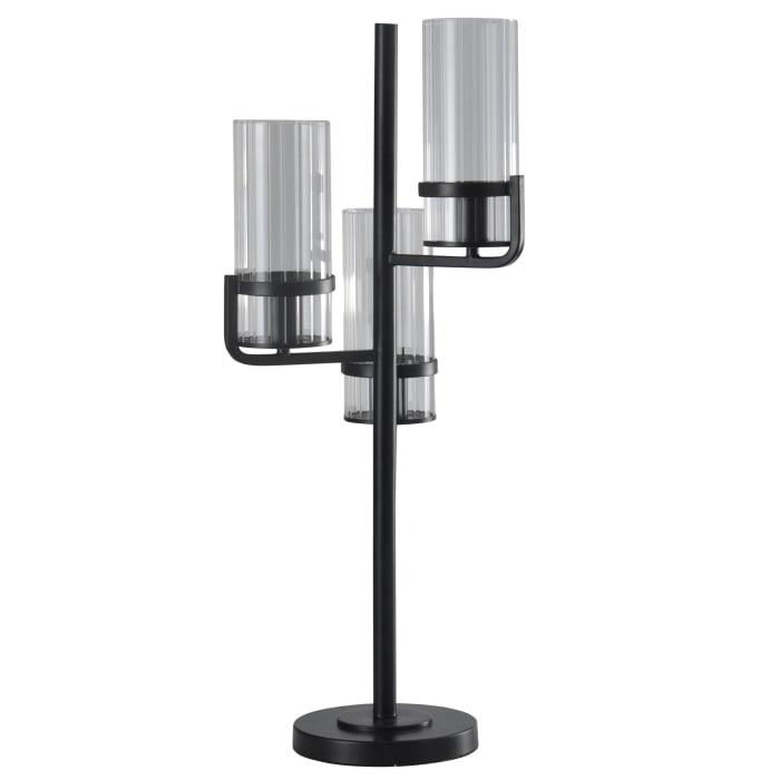 Silas Satin Black Table Lamp