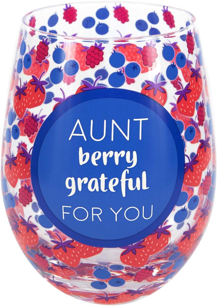 Aunt - Stemless Wine Glass