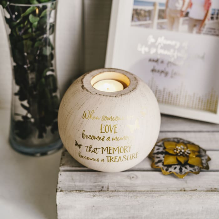 Memory - Round Tea Light Candle Holder