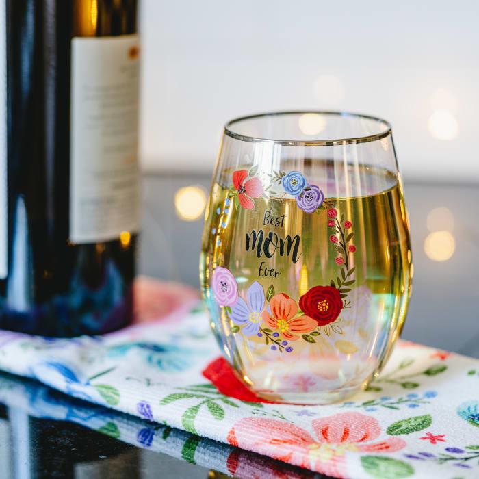 Mom - Stemless Wine Glass