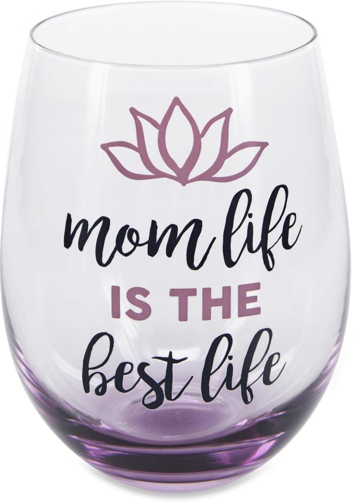Mom Life - Stemless Wine Glass