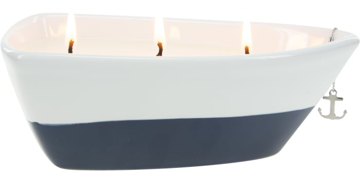 On the Boat - Triple Wick Soy Wax CandleScent: Tranquility