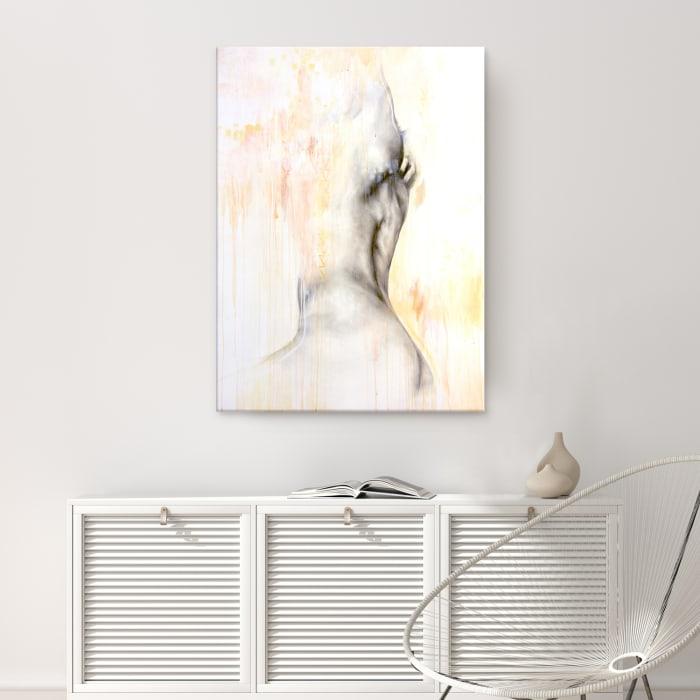 Surrender III Gray Figurative Canvas Wall Art