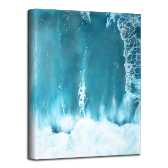 Underwater Clouds I Blue Modern Coastal Canvas Wall Art