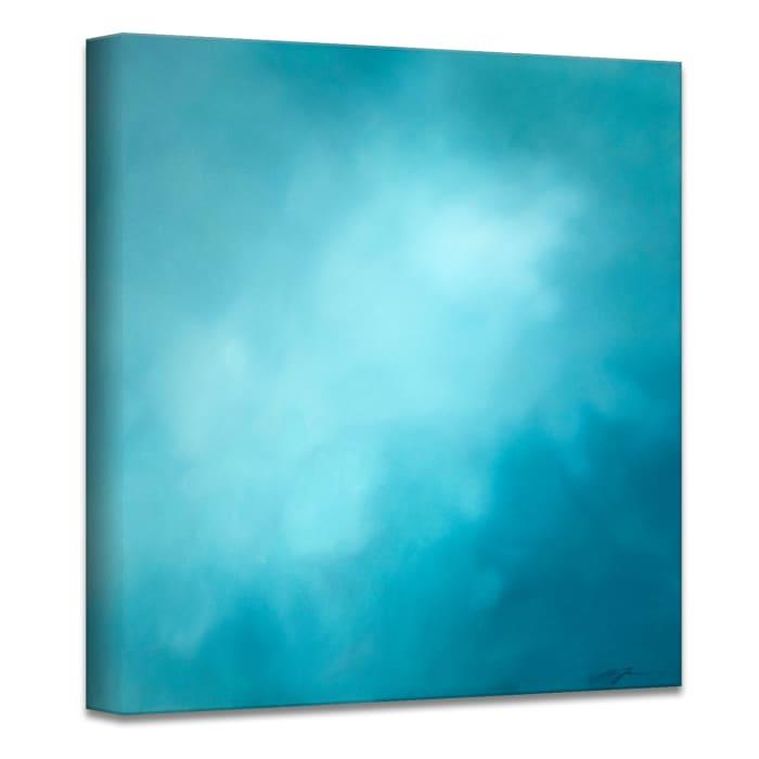 Underwater Clouds XII Teal Modern Coastal Canvas Wall Art