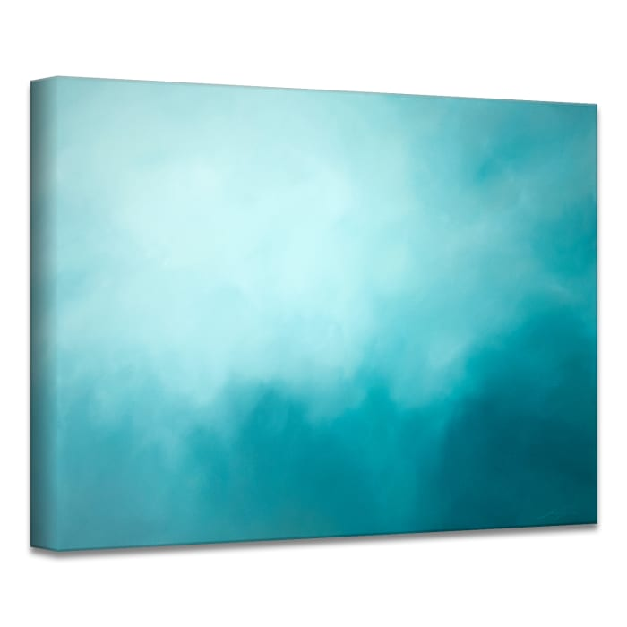 Underwater Clouds XIV Teal Modern Coastal Canvas Wall Art