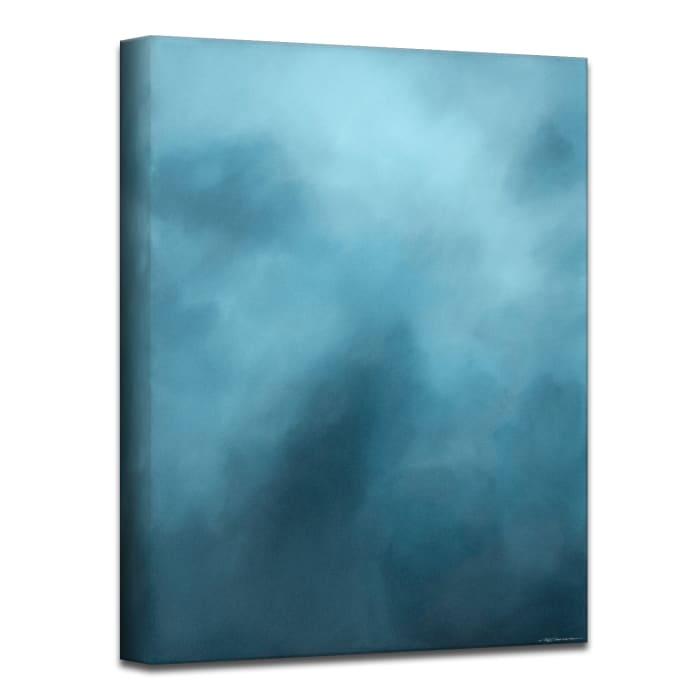Underwater Clouds XVIII Teal Modern Coastal Canvas Wall Art