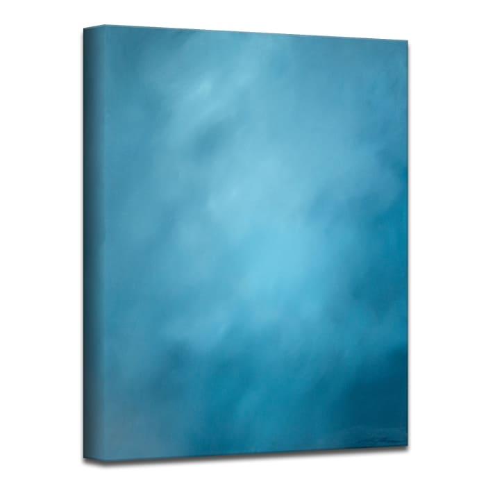 Underwater Clouds XX Blue Modern Coastal Canvas Wall Art