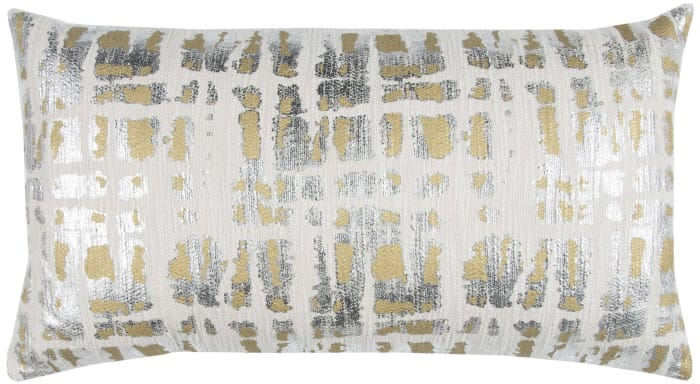 Abstract Ivory/Gold Pillow Cover