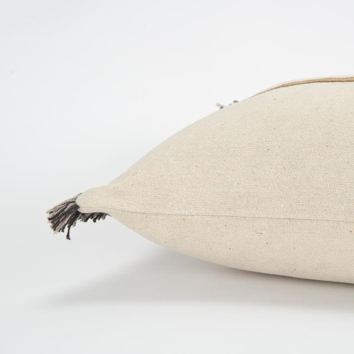 Color Block Tan/Natural Pillow Cover