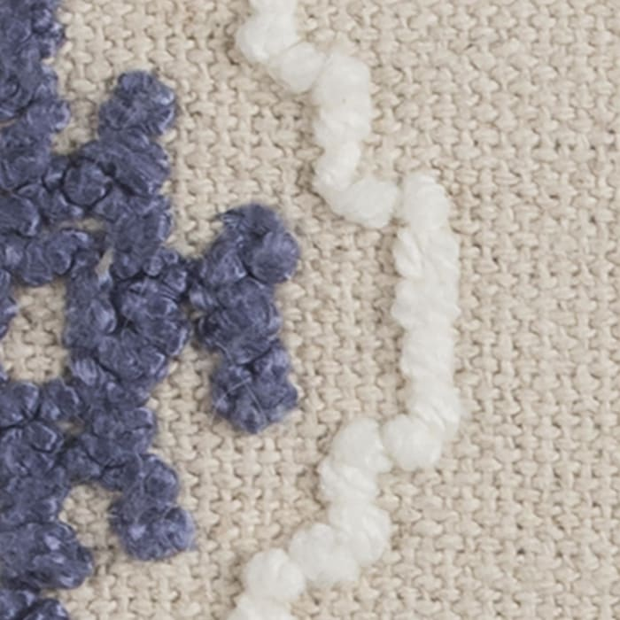 Ikat Natural Cotton Blue Pillow Cover