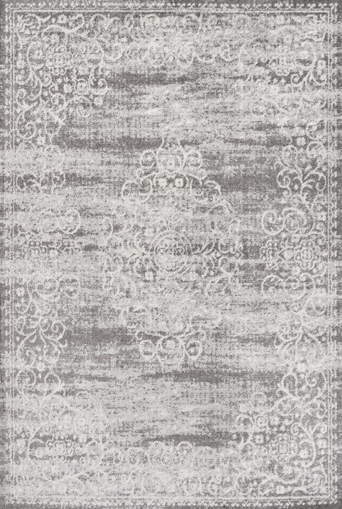 Filigree Medallion Light Gray/Cream 3' x 5' Area Rug