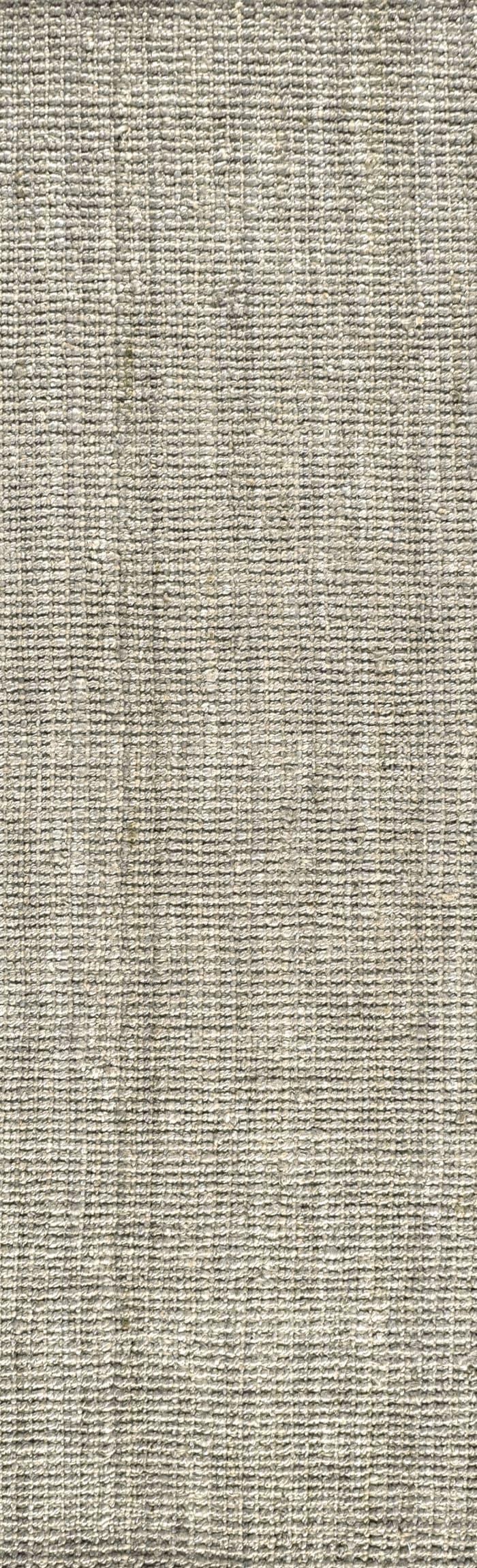 Hand Woven Chunky Jute Gray 2' x 8' Runner Rug