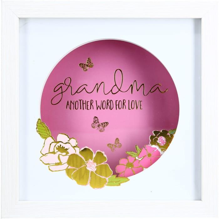 Grandma - Cut Paper Shadow Box