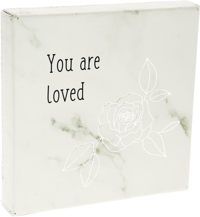 Loved - Faux Leather Plaque