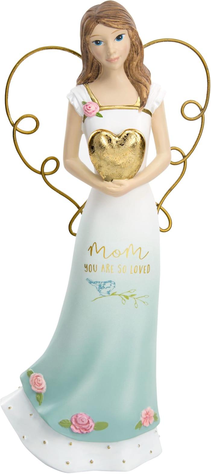 Mom - Angel Holding a Heart