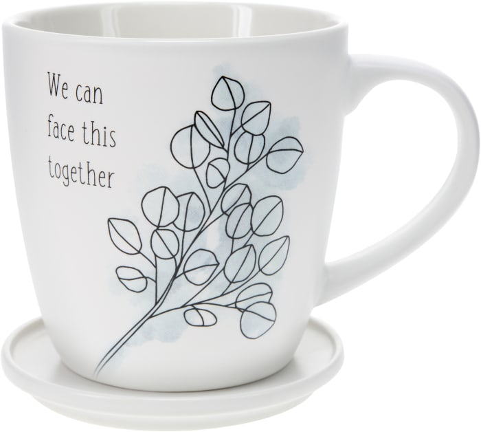 Face This Together - Cup with Coaster Lid