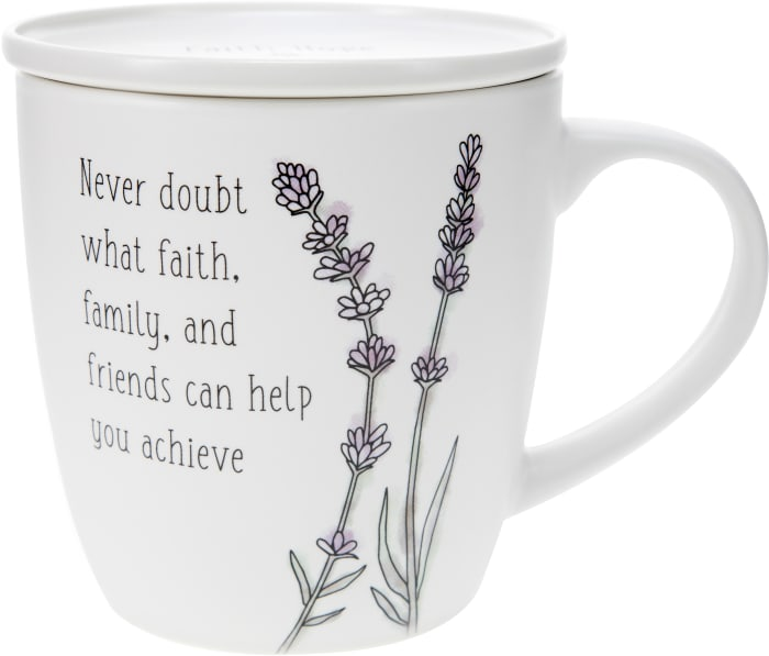 Never Doubt - Cup with Coaster Lid