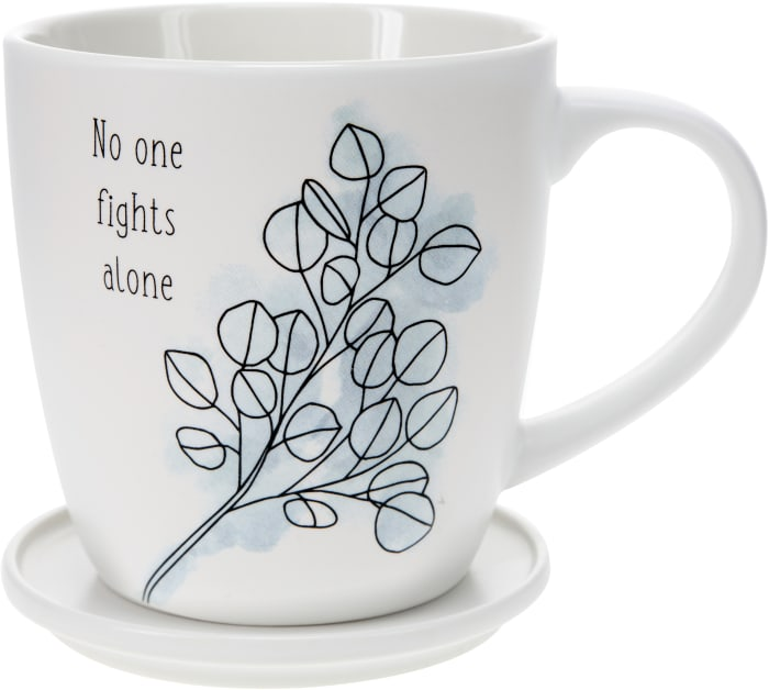 No One Fights Alone - Cup with Coaster Lid