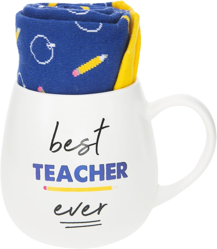 Best Teacher Ever Mug & Sock Gift Set