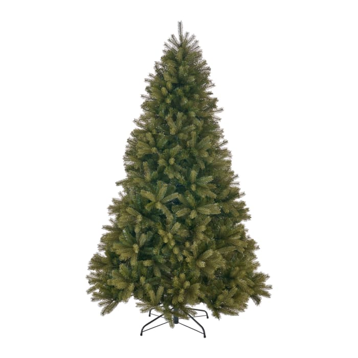 7.5-foot Mixed Spruce Unlit Hinged Artificial Christmas Tree